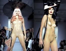 Modelos que desfilaram nuas