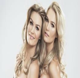 Mônica e morgane martin irmãs gêmeas peladas na série o caçador