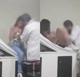 Safada fez vídeo amador com o seu ginecologista