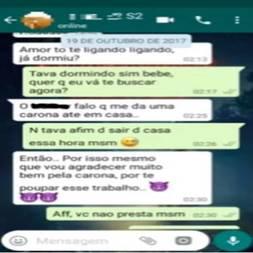conversa do whatsapp falou com corno que transou com outro