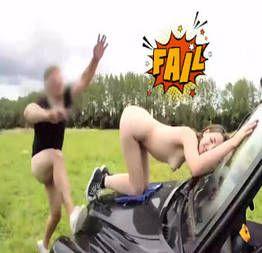 Falha épica durante gravação porno