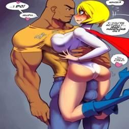 Power Girl fodendo com negão dotado