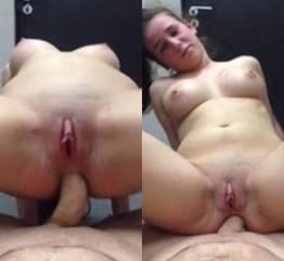 Ela não aguentava mais dar o cu
