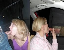 Safadas chupando o pau de homens no carro