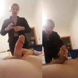 Mostrou o pau pra sogra e convenceu ela a pegar na rola