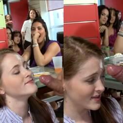 Mulher pede pra desconhecido gozar na cara dela num bar lotado