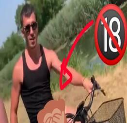 Esse Ciclista safadão polemizou a Net ao mostrar suas abilidades enquanto dá uma pedala