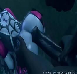 Monstro arrombando mulher em novo hentai 3D