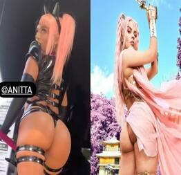 Anitta e luísa sonza rebolando e mostrando a bunda em bastidores de clipe