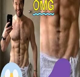 Só de toalha, Sérgio Marone causa e volume chama atenção!