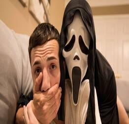 Scream porn parody with Mickey Knox and Troye Jacobs -
