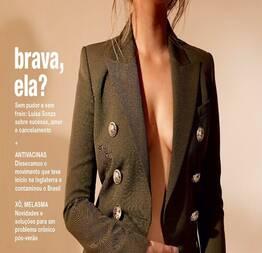 Luísa sonza mostrando os peitos em ensaio na revista marie claire