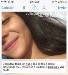 Noviha Chapada de maconha mandou nudes e caiu na net
