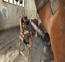 Lara foi arrombada pelo cavalo 3D