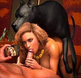 Loirinha trasando combo cachorro e namorado