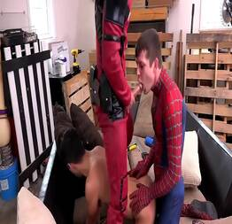 Deadpool and spider man Fucking