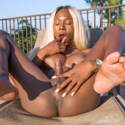 Lindas trans negras mostrando o cuzinho
