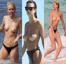 Coleção de celebridades nuas na praia (20 fotos) | Famosas nuas oficial