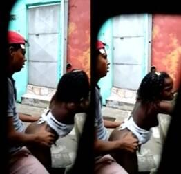 Neguinha da favela dando na rua
