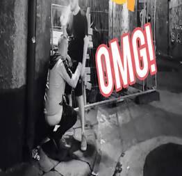 A Camera de segurança que flagrou essa pegação na rua de madrugada e foi surreal!