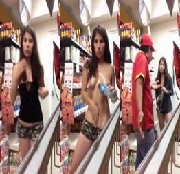 Ela foi aprontar no supermercado mas o dono atrapalhou